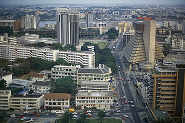 IVORY COAST  Abidjan View over the modern capital city