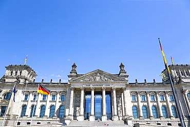 Germany, Berlin, Mitte, The Reichstag building in Tiergarten.