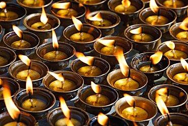 Nepal, Kathmandu,Traditional butter-oil candles.