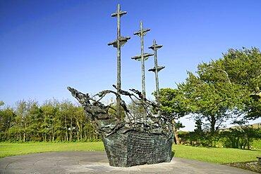 Ireland, County Mayo, Murrisk, The National Famine Memorial.