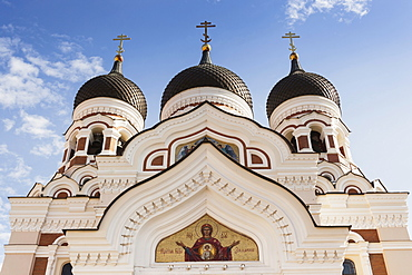 Estonia, Tallinn, Orthodox Cathedral of Alexander Nevsky, Toompea.
