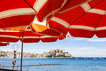 France, Corsica, Calvi, The Citadel and town.