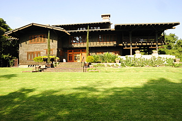 The Gamble House exterior Pasadena, Designed by Greene and Green in 1908, Valley & Pasadena, United States of America