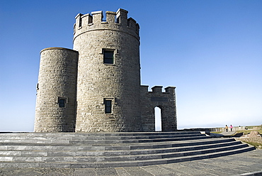 Ireland, County Clare, Cliffs of Moher, O'Brien's Tower - it was built by Sir Cornelius O'Brien in 1835 as an observation tower for tourists