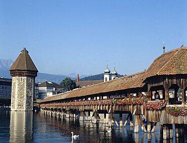 Switzerland, Lucerne, Chapel Bridge