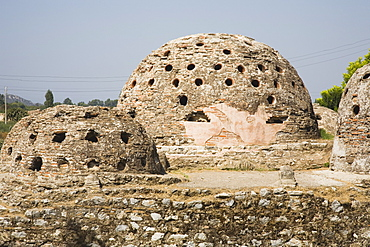 Turkey, Izmir Province, Selcuk, Domed burial chambers at ancient site of the Temple of Artemis