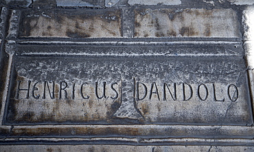Sultanahmet Haghia Sophia tomb of Enrico Dandolo the 41st Doge of Venice who sacked Constantinople in the 4th Crusade after being blinded by the Byzantines when he was ambassador there, Istanbul, Turkey