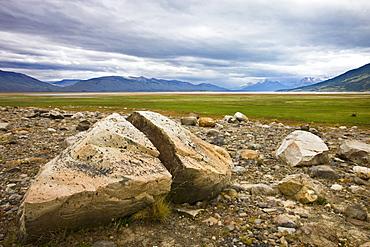 Rocky plains of Patagonia near El Calafate, Patagonia, Argentina, South America