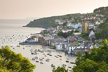 The Cornish town of Fowey on the Fowey Estuary, Cornwall, England, United Kingdom, Europe
