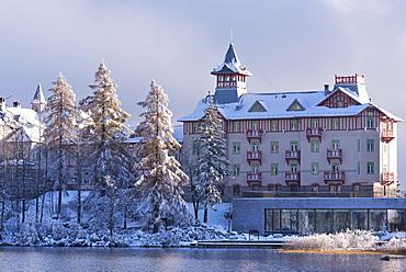 Luxury Hotel Kempinski on the shores of Strbske Pleso in the High Tatras, Slovakia, Europe