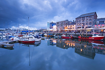 Summer evening at The Barbican, Plymouth, Devon, England, United Kingdom, Europe