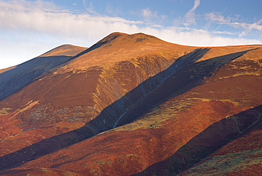 Skiddaw, the fourth highest mountain in England, Lake District National Park, Cumbria, England, United Kingdom, Europe