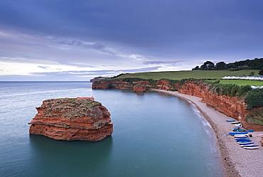 Ladram Bay on the Jurassic Coast, UNESCO World Heritage Site, Devon, England, United Kingdom, Europe