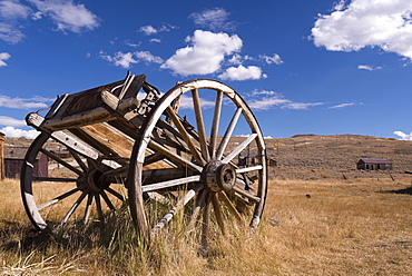 Old wooden wagon in Bodie Ghost Town, California, United States of America, North America