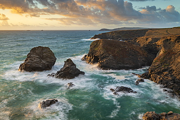 Dramatic coastal scenery near Trevose Head in North Cornwall, England, United Kingdom, Europe
