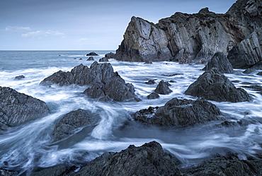 Secluded cove on the North Devon coast, Devon, England, United Kingdom, Europe