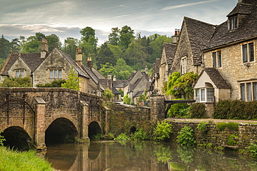 The picturesque Cotswolds village of Castle Combe, Wiltshire, England, United Kingdom, Europe