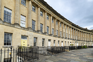 The Royal Crescent in Bath, UNESCO World Heritage Site, Somerset, England, United Kingdom, Europe
