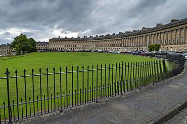 The Royal Crescent, Bath, UNESCO World Heritage Site, Somerset, England, United Kingdom, Europe