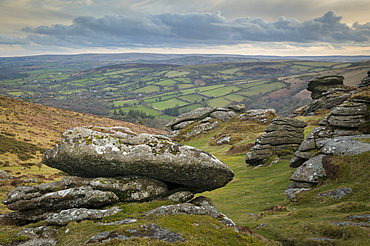 Honeybag Tor in Dartmoor National Park, Devon, England, United Kingdom, Europe