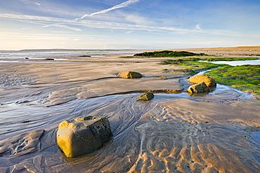 Low tide on the beach at Westward Ho!, Devon, England, United Kingdom, Europe