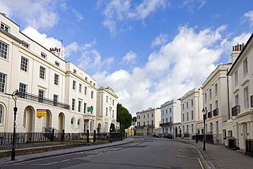 Georgian buildings along Carlton Crescent, Southampton, Hampshire, England, United Kingdom, Europe