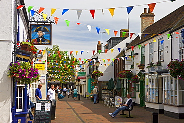 The village of Hythe lies between Southampton Water and the New Forest, Hampshire, England, United Kingdom, Europe