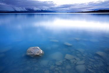 Glacial Lake Pukaki at dawn, Canterbury, South Island, New Zealand, Pacific