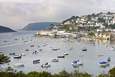 Salcombe and the Kingsbridge Estuary from Snapes Point, South Hams, Devon, England, United Kingdom, Europe