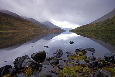 Loch Leven on a stormy day, Highlands, Scotland, United Kingdom, Europe