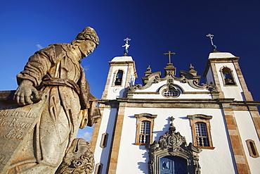 Sanctuary of Bom Jesus de Matosinhos and The Prophets sculptures by Aleijadinho, UNESCO World Heritage Site, Congonhas, Minas Gerais, Brazil, South America