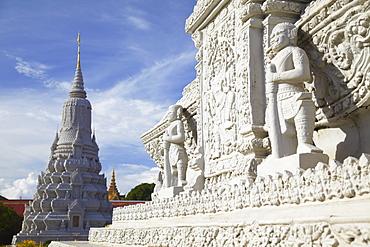 Stupas at Silver Pagoda in Royal Palace, Phnom Penh, Cambodia, Indochina, Southeast Asia, Asia
