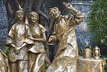 Statues at Chen Clan Academy, Guangzhou, Guangdong, China, Asia