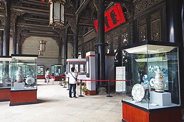 Artifacts on display at Chen Clan Academy, Guangzhou, Guangdong, China, Asia