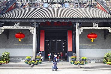 People at Chen Clan Academy, Guangzhou, Guangdong, China, Asia