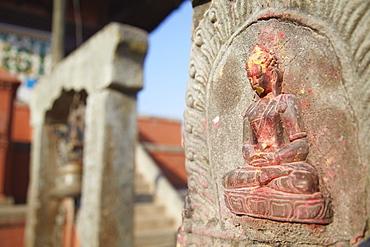 Statue at Bhagwati Shiva Temple, Dhulikhel, Kathmandu Valley, Nepal, Asia