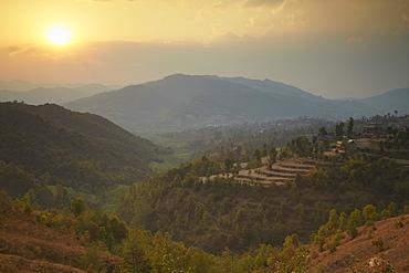 Terraced fields, Dhulikhel, Kathmandu Valley, Nepal, Asia