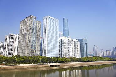 Skyscrapers in Zhujiang New Town area, Guangzhou, Guangdong, China, Asia
