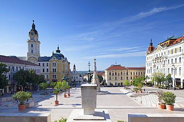 Szechenyi Square, Pecs, Southern Transdanubia, Hungary, Europe
