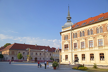 Main Square, Keszthely, Lake Balaton, Hungary, Europe