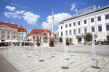 Szechenyi Square, Gyor, Western Transdanubia, Hungary, Europe