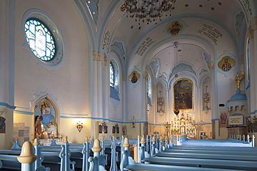 Interior of Church of St. Elizabeth (Blue Church), Bratislava, Slovakia, Europe