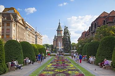Metropolitan Cathedral in Piata Victoriei, Timisoara, Banat, Romania, Europe