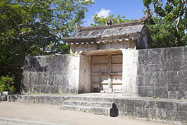 Sonohyan Utaki Stone Gate at Shuri Castle, UNESCO World Heritage Site, Naha, Okinawa, Japan, Asia
