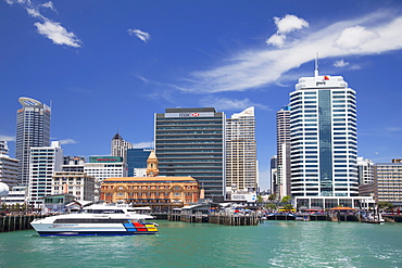 Waitemata Harbour and waterfront, Auckland, North Island, New Zealand, Pacific