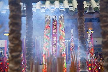 Incense at Che Kung Temple, Shatin, New Territories, Hong Kong, China, Asia