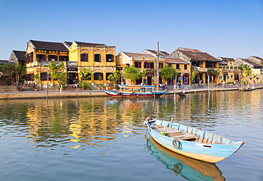 Boat on Thu Bon River, Hoi An, UNESCO World Heritage Site, Quang Nam, Vietnam, Indochina, Southeast Asia, Asia