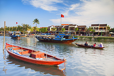 Boats on Thu Bon River, Hoi An, UNESCO World Heritage Site, Quang Nam, Vietnam, Indochina, Southeast Asia, Asia