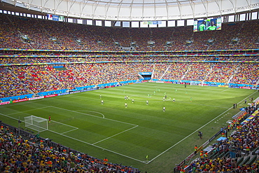 World Cup football match in National Mane Garrincha Stadium, Brasilia, Federal District, Brazil, South America