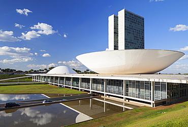 National Congress, UNESCO World Heritage Site, Brasilia, Federal District, Brazil, South America